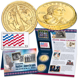 2021 Native American Dollar Coin & Stamp Set