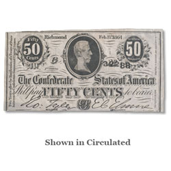 1863 50¢ Confederate Note