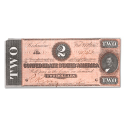 1864 $2 Confederate Note