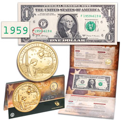 2019 Native American Dollar Coin and Currency Set