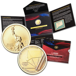2020-S Connecticut U.S. Innovation Dollar Reverse Proof