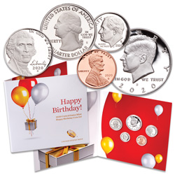 2020 Happy Birthday Coin Set