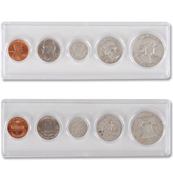 1959 5-Coin Year Set with Holder, Circulated to Uncirculated