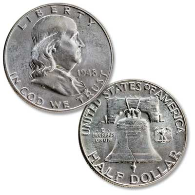 Image for 1948 Franklin Half Dollar from Littleton Coin Company
