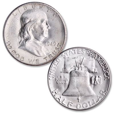 Image for 1949 Franklin Half Dollar from Littleton Coin Company