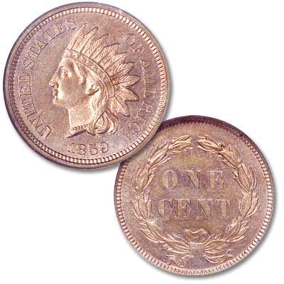 Image for 1859 Indian Head Cent, Variety 1, Copper-Nickel from Littleton Coin Company