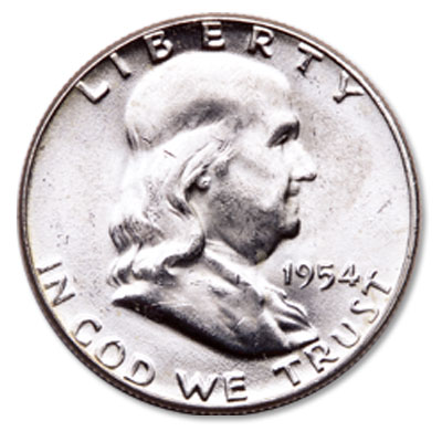 Image for 1954 Franklin Half Dollar from Littleton Coin Company