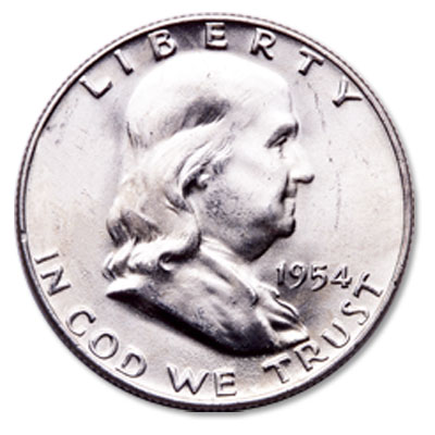 Image for 1954-D Franklin Half Dollar from Littleton Coin Company