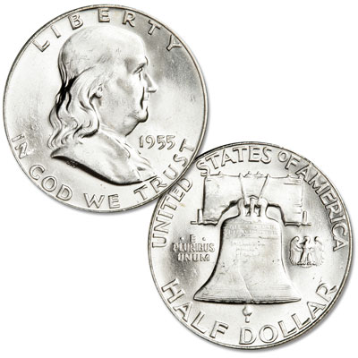 Image for 1955 Franklin Half Dollar from Littleton Coin Company