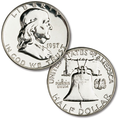 Image for 1957 Franklin Half Dollar Proof from Littleton Coin Company