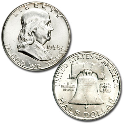 Image for 1958 Franklin Half Dollar from Littleton Coin Company