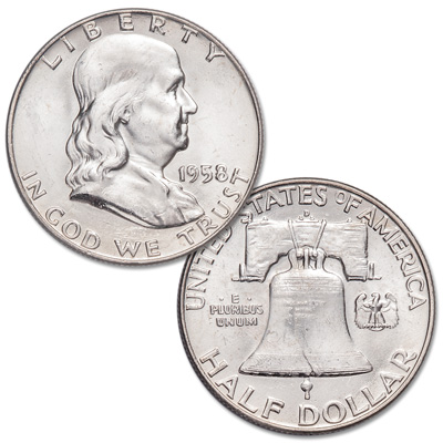 Image for 1958-D Franklin Half Dollar from Littleton Coin Company