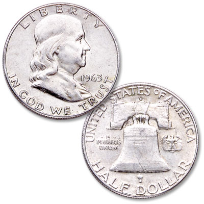 Image for 1963-D Franklin Half Dollar from Littleton Coin Company