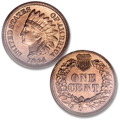 Image for 1864 Indian Head Cent, Variety 2, Copper-Nickel from Littleton Coin Company