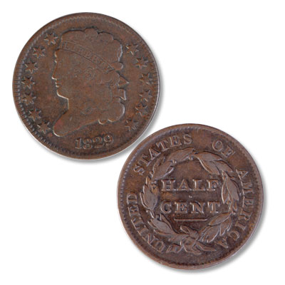Image for 1829 Classic Head Half Cent from Littleton Coin Company