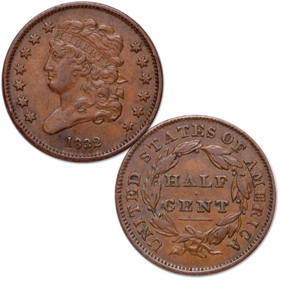 Image for 1832 Classic Head Half Cent from Littleton Coin Company
