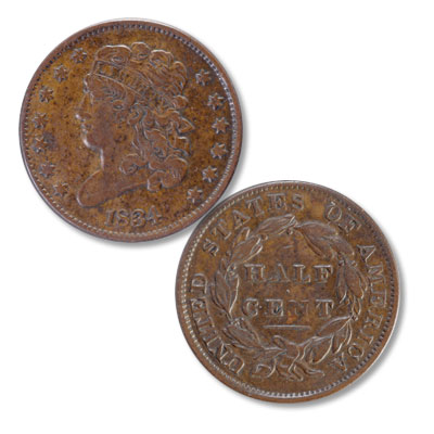 Image for 1834 Classic Head Half Cent from Littleton Coin Company