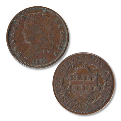 Image for 1835 Classic Head Half Cent from Littleton Coin Company