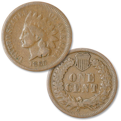 Image for 1865 Indian Head Cent, Variety 3, Bronze, Plain 5 from Littleton Coin Company
