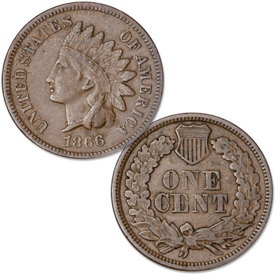 Image for 1866 Indian Head Cent, Variety 3, Bronze from Littleton Coin Company