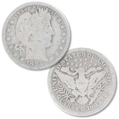 Image for 1894 Barber Silver Quarter from Littleton Coin Company