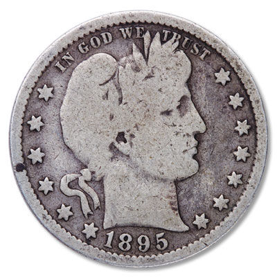 Image for 1895 Barber Silver Quarter from Littleton Coin Company