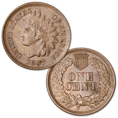 Image for 1867 Indian Head Cent, Variety 3, Bronze from Littleton Coin Company