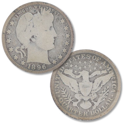 Image for 1896-S Barber Silver Quarter from Littleton Coin Company