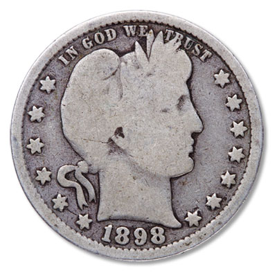 Image for 1898 Barber Silver Quarter from Littleton Coin Company