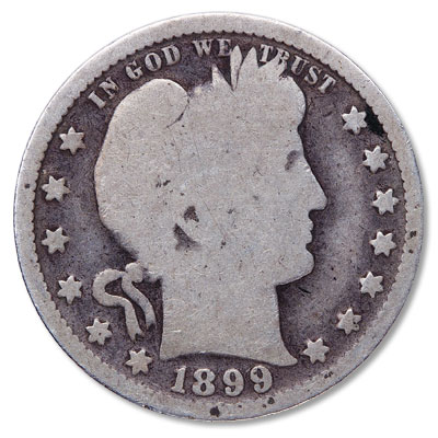 Image for 1899 Barber Silver Quarter from Littleton Coin Company