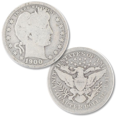 Image for 1900 Barber Silver Quarter from Littleton Coin Company