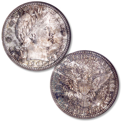 Image for 1901-S Barber Silver Quarter from Littleton Coin Company