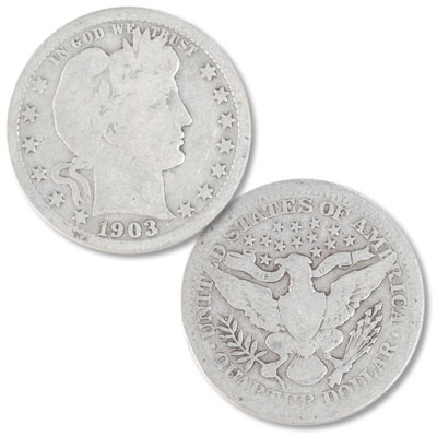 Image for 1903 Barber silver quarter from Littleton Coin Company