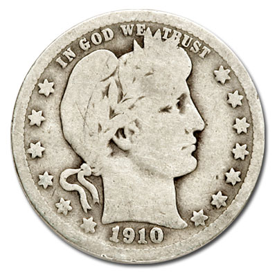 Image for 1910-D Barber Silver Quarter from Littleton Coin Company