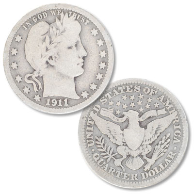 Image for 1911 Barber Silver Quarter from Littleton Coin Company