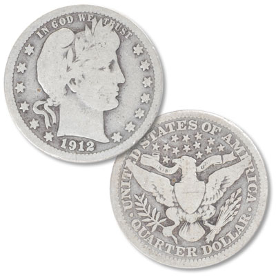 Image for 1912 Barber Silver Quarter from Littleton Coin Company