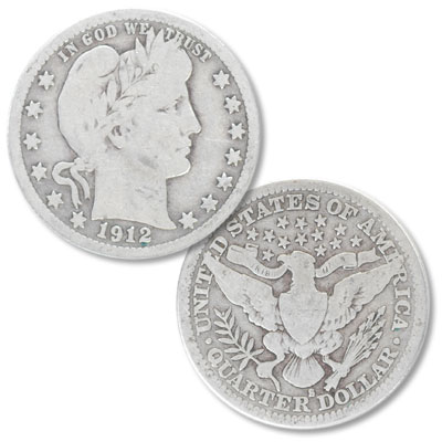 Image for 1912-S Barber Silver Quarter from Littleton Coin Company