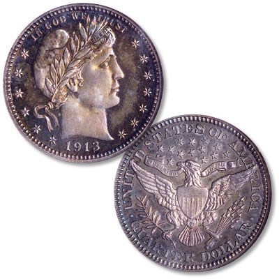 Image for 1913 Barber Silver Quarter from Littleton Coin Company