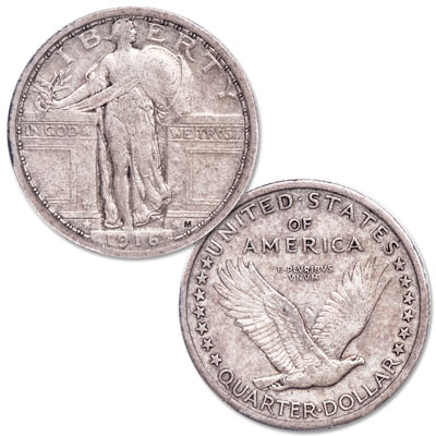 Image for 1916 Standing Liberty Silver Quarter from Littleton Coin Company