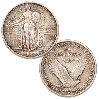 Image for 1917-D Standing Liberty Silver Quarter, Type 1 from Littleton Coin Company