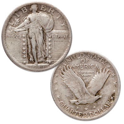 Image for 1917 Standing Liberty Quarter, Type 2 from Littleton Coin Company