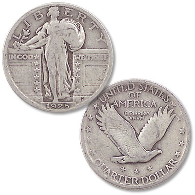 Image for 1925 Standing Liberty Silver Quarter from Littleton Coin Company