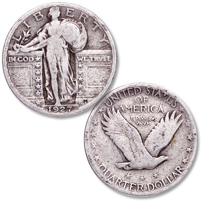 Image for 1927 Standing Liberty Silver Quarter from Littleton Coin Company
