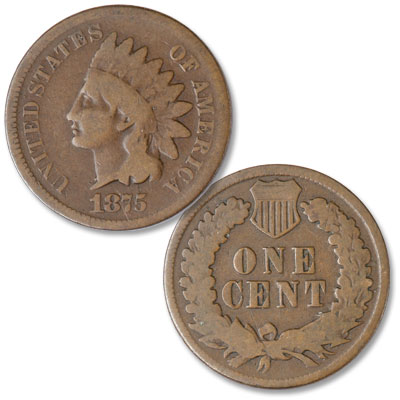 Image for 1875 Indian Head Cent, Variety 3, Bronze from Littleton Coin Company