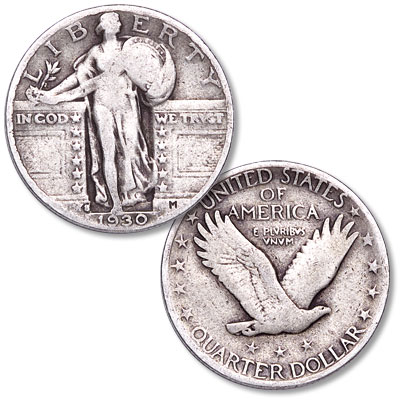 Image for 1930-S Standing Liberty Silver Quarter from Littleton Coin Company