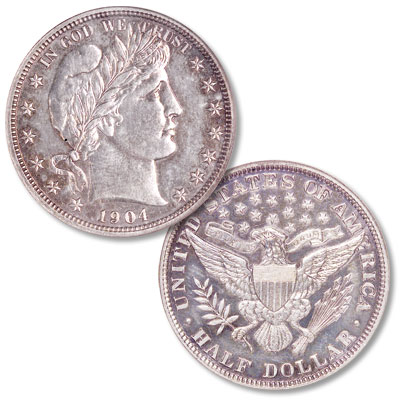 Image for 1904 Barber Half Dollar from Littleton Coin Company