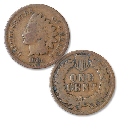 Image for 1880 Indian Head Cent, Variety 3, Bronze from Littleton Coin Company