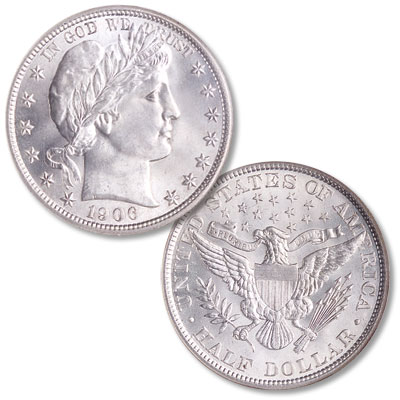 Image for 1906 Barber Silver Half Dollar from Littleton Coin Company