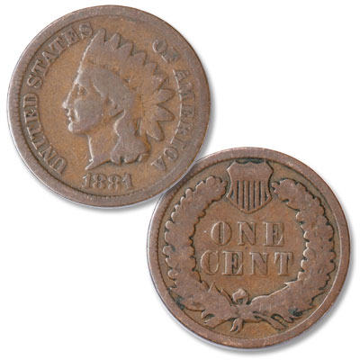 Image for 1881 Indian Head Cent, Variety 3, Bronze CIRC from Littleton Coin Company