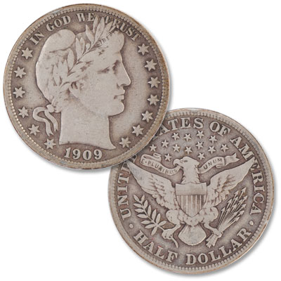 Image for 1909 Barber Silver Half Dollar from Littleton Coin Company